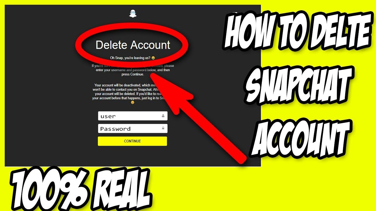 snap account login