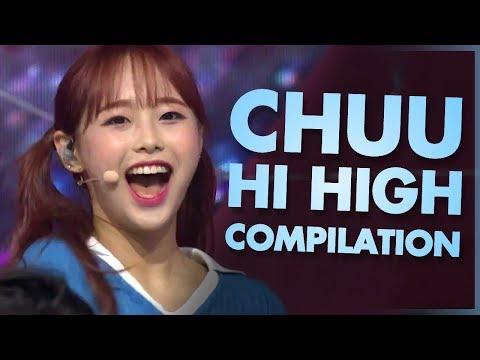 LOONA / Chuu - 'Hi High' Live High Note Compilation