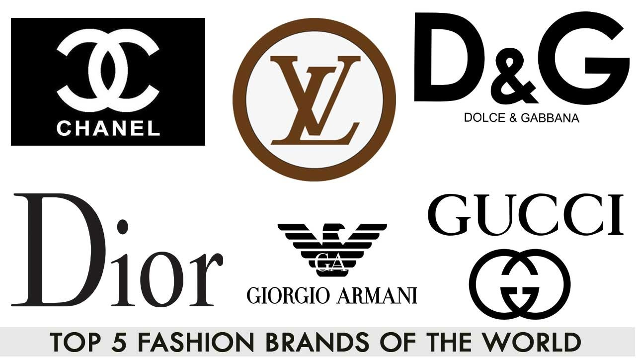 Fashion designer brand logos list 70