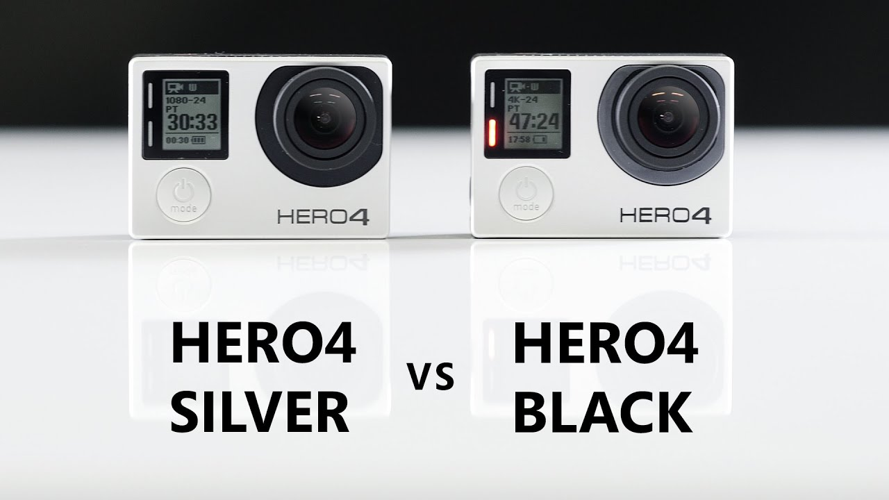 gopro hero4 silver vs hero4 black comparison and review youtube