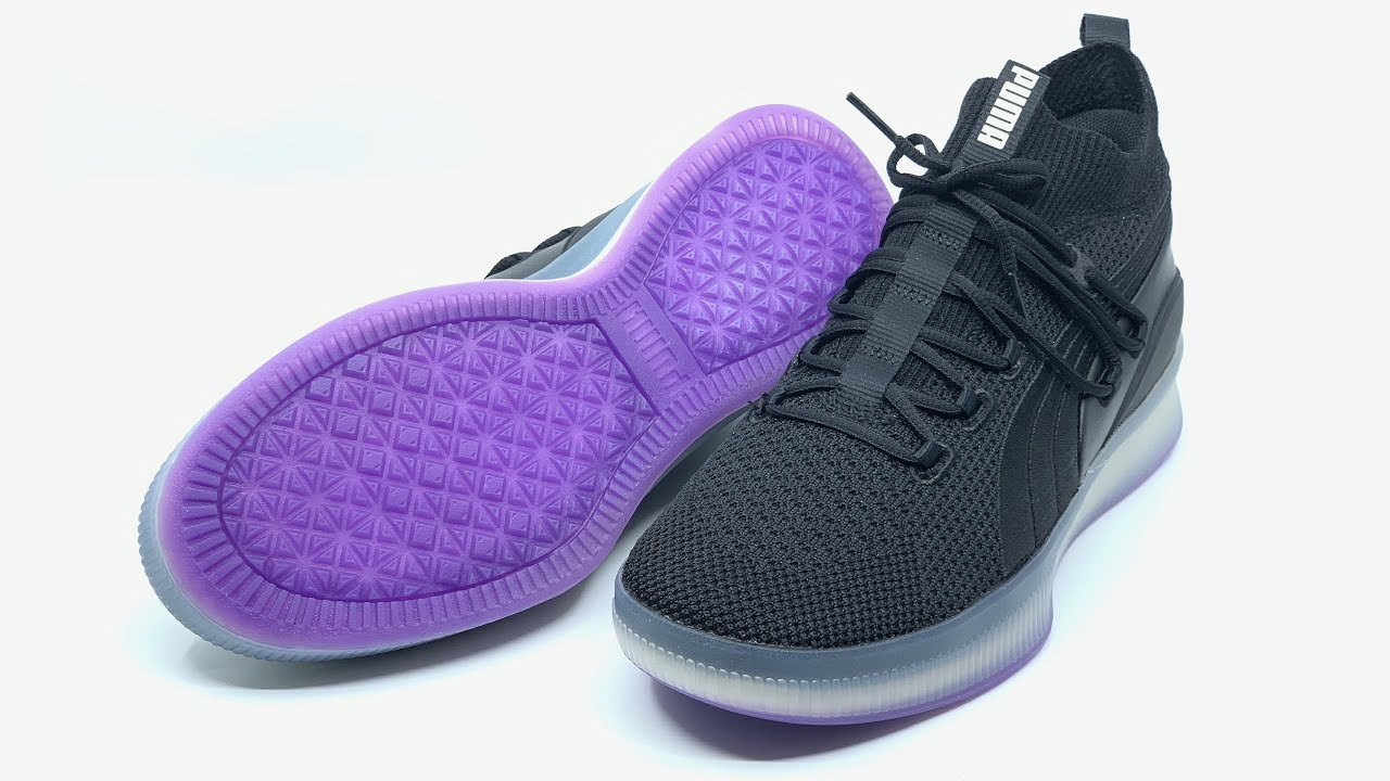 81c9818aa5b5 Puma Clyde Court Disrupt Men s Basketball Shoes (Puma Black Electric  Purple) 4K