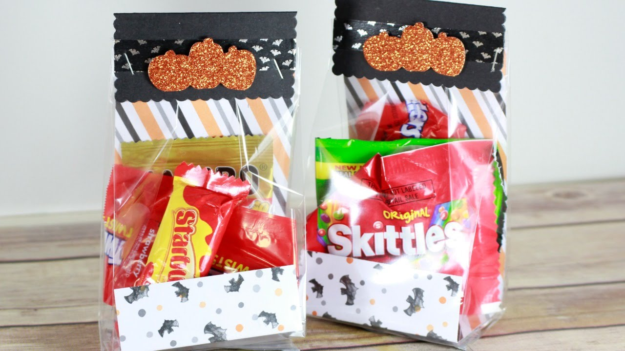 quick & easy halloween treat bags - youtube