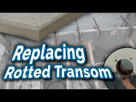 1979 Mako Restoration 2013 2013 Transom Repair Doovi
