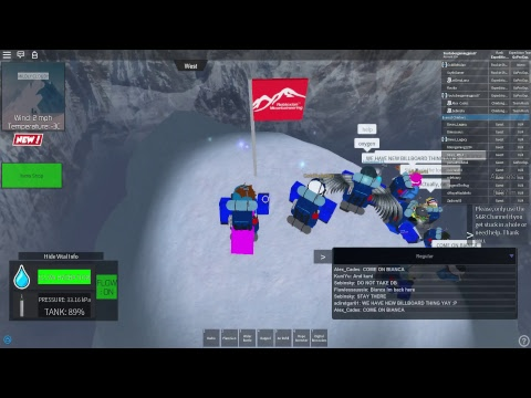 Roblox Everest Climbing W Gopro Expeditions - mount everest roleplay roblox badges list