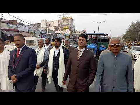 R m John president Christian community Bhogpur Xmas Shobha yatra