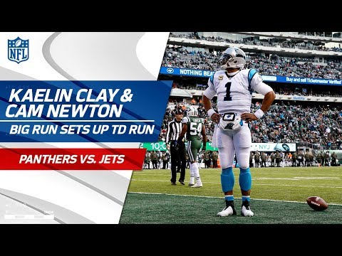 Kaelin Clay's Sick Reverse Sets Up Cam Newton's Bootleg TD Run! | Panthers vs. Jets | NFL Wk 12