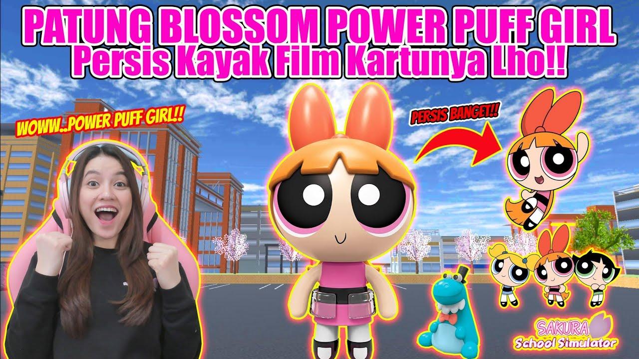 Download WOWW..ADA PATUNG BLOSSOM POWER PUFF GIRL!! PERSIS FILM KARTUNNYA!! SAKURA SCHOOL SIMULATOR-PART 459