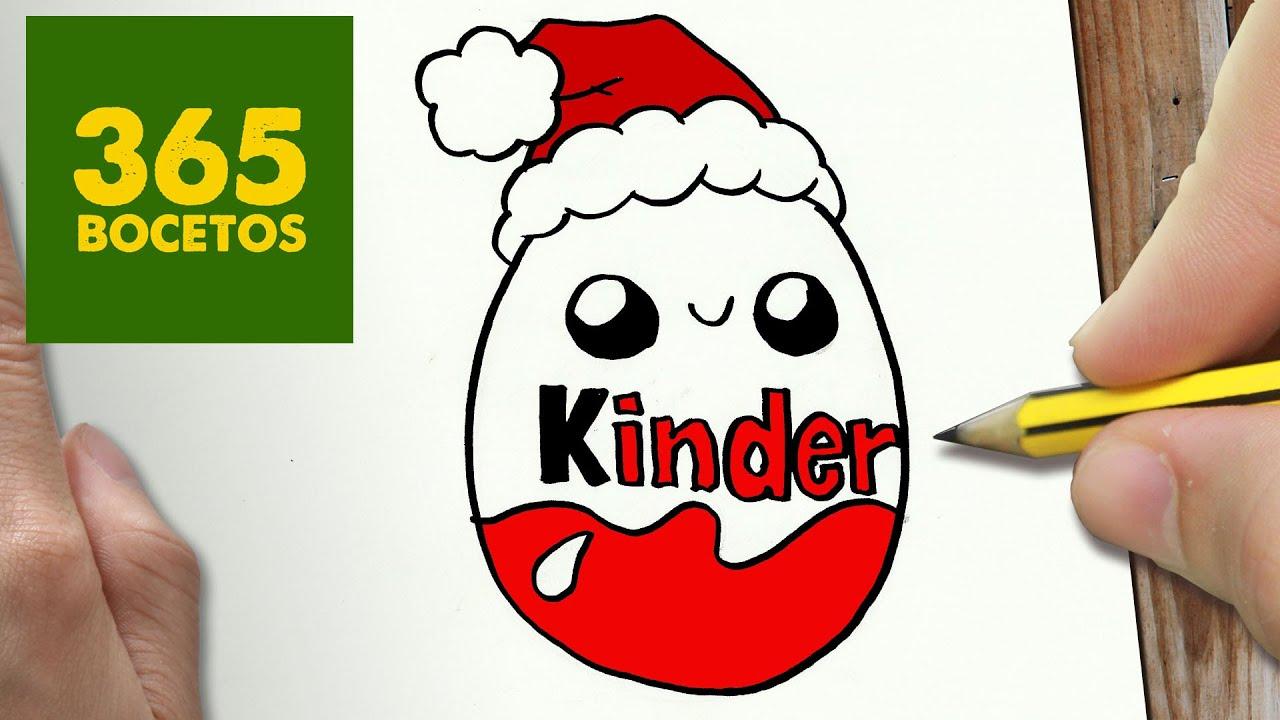 Como Dibujar Huevo Kinder Para Navidad Paso A Paso Dibujos Kawaii Navideños How To Draw A Kinder