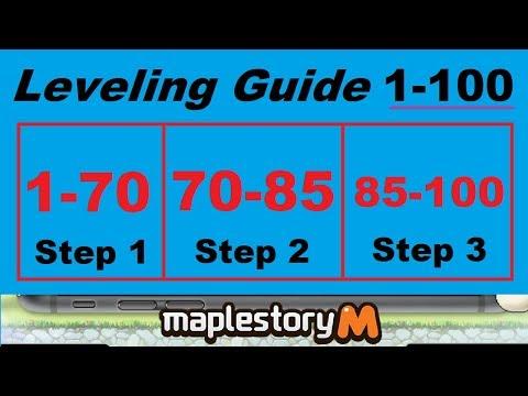 Level 1-100 Leveling Guide (3 Steps)  For Maplestory M (Maplestory Mobile)