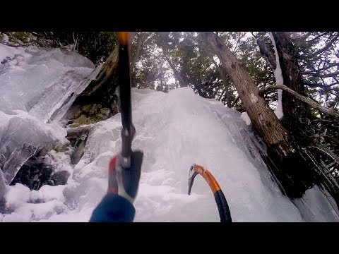Ice axe climbing in Adirondacks not for the faint hearted (video)