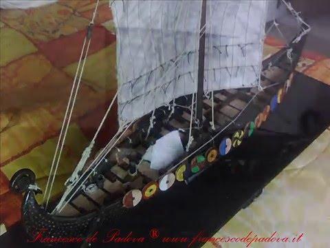 Viking Drakkar ship model
