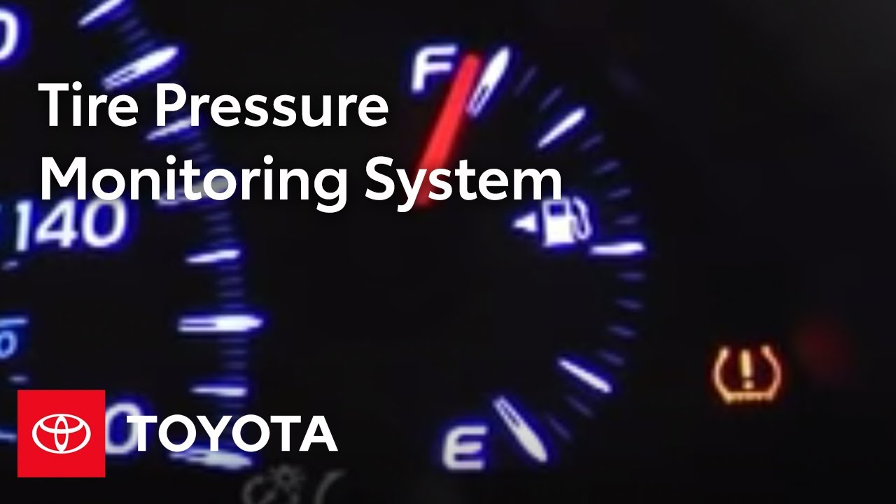 2007 2009 Camry How To Tire Pressure Monitoring System Toyota