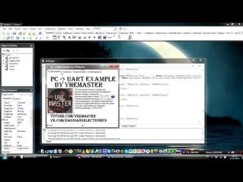 Микроконтроллер и компьютер через UART - Delphi - Видеоурок