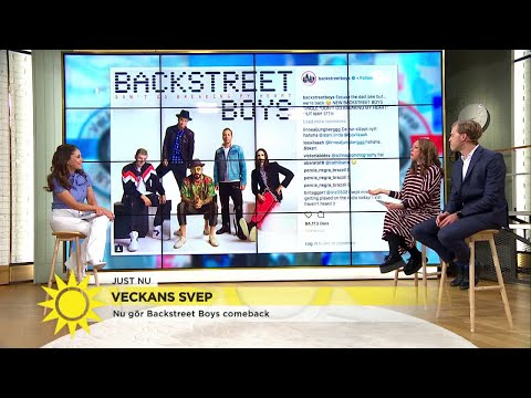 """Backstreet boys är tillbaka: """"De närmar sig 50-års åldern men är ett pojkband!""""  - Nyhetsmorgon (TV4"""