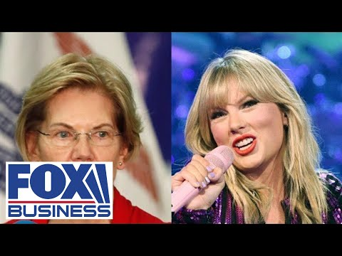 Why is Elizabeth Warren part of Taylor Swift's music battle?