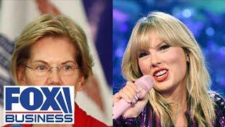 Why is Elizabeth Warren part of Taylor Swift's music battle? Video