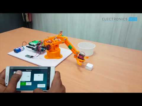 DIY Arduino and Bluetooth Controlled Programmable Robotic Arm