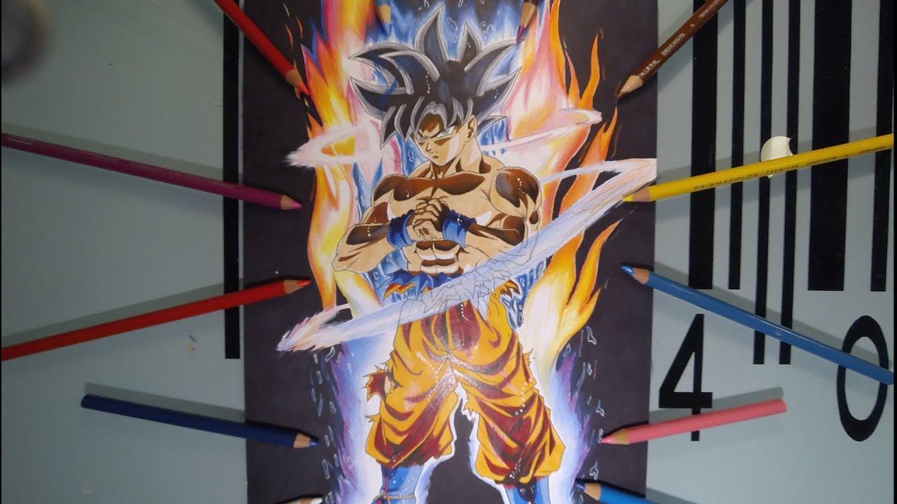 Drawing Goku New Form Limit Breaker Ultra Instinct Ruben Paillard
