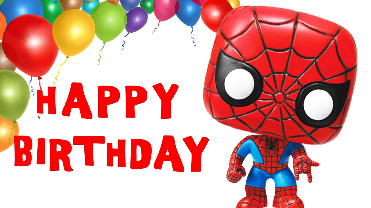 Spider Man Sings Happy Birthday Song Greetings Marvel Heroes Theme Party Celebration