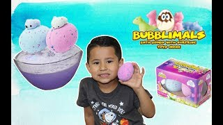 BUBBLIMALS Bath Bombs with SQUISHIES | Surprise toy bath bombs