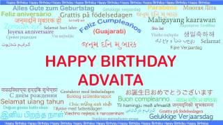 Advaita   Languages Idiomas - Happy Birthday