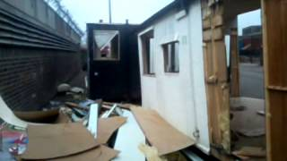 Inside Derelict Caravan in Cotton Street, Dalmarnock in Glasgow, Scotland (May 2013)