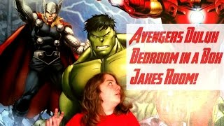 Avengers Dulux Bedroom Decor - Jake's Reaction To His New Room