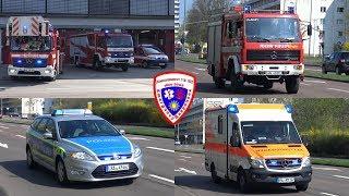 🚨 Löschzug + C-Dienst BF Halle (Saale) + LF 8/6 FF Halle-Passendorf + FuStW Polizei + RTW ASB Halle