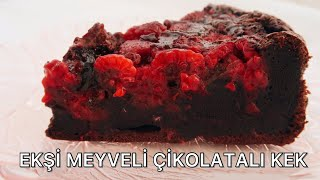 Bengi Kurtcebe& 39 nin Tariflerini Deniyorum Ekşi Meyveli Çikolatalı Kek