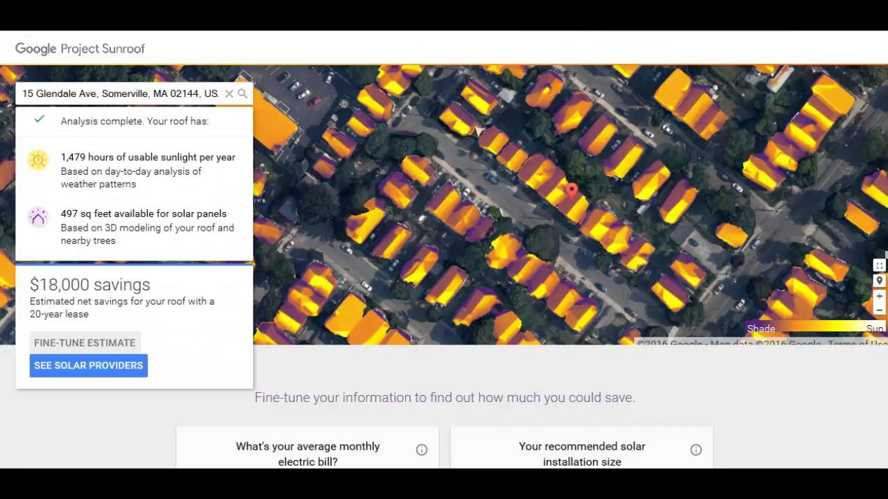 Google Solar Roof >> Calculating Your Roof S Sun Exposure With Google S Project Sunroof