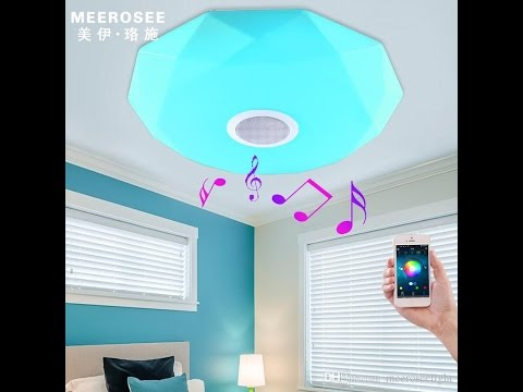 Smart LED Ceiling Light Dimmable Bluetooth Music induction Phone Control