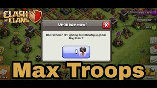 Max Troops in a one secod ||Clash of Clans|| in hindi