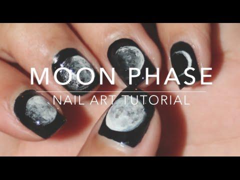 Moon Phase Nail Art Tutorial Youtube