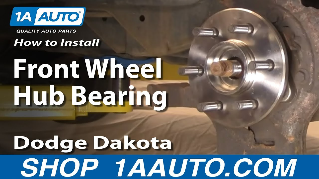 how to install replace front wheel hub bearing dodge dakota durango 97 03 1aauto com youtube [ 1920 x 1080 Pixel ]