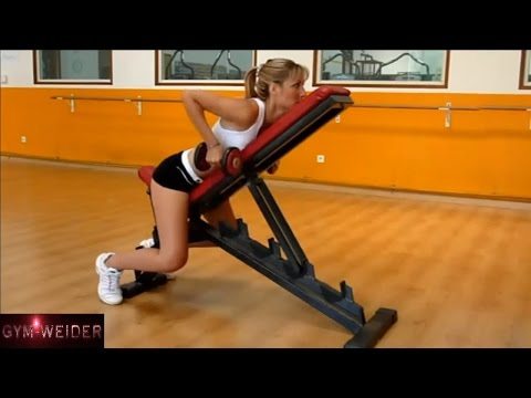 female fitness models arms abs and back exercise