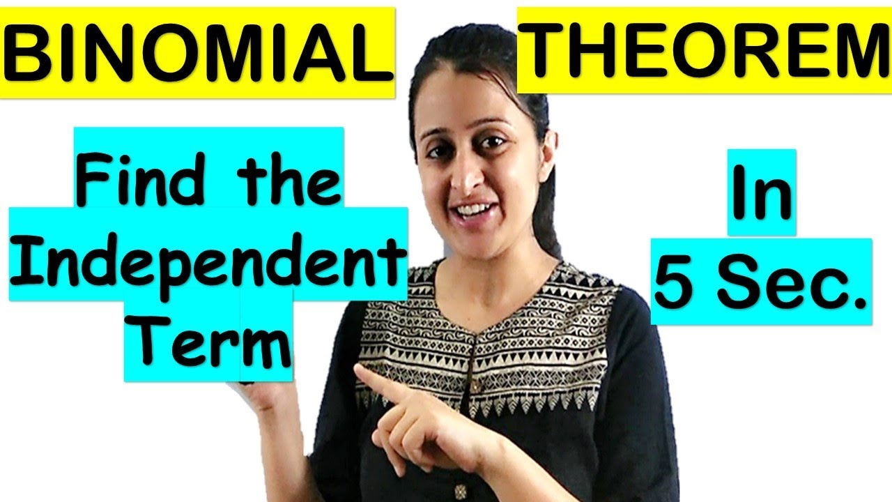 BINOMIAL THEOREM SHORTCUT/FIND THE TERM INDEPENDENT OF x WITH TRICK