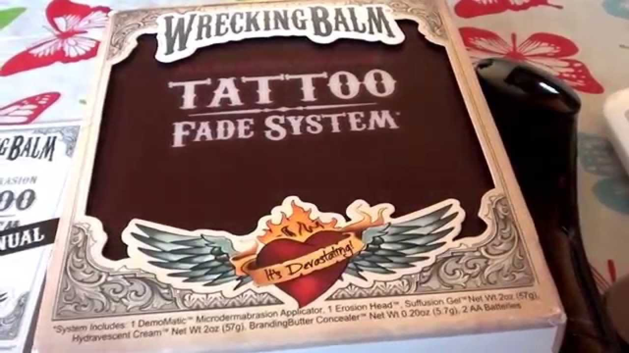 TATTOO REMOVAL? UNBoxing Wrecking Balm Tattoo Fade System ...