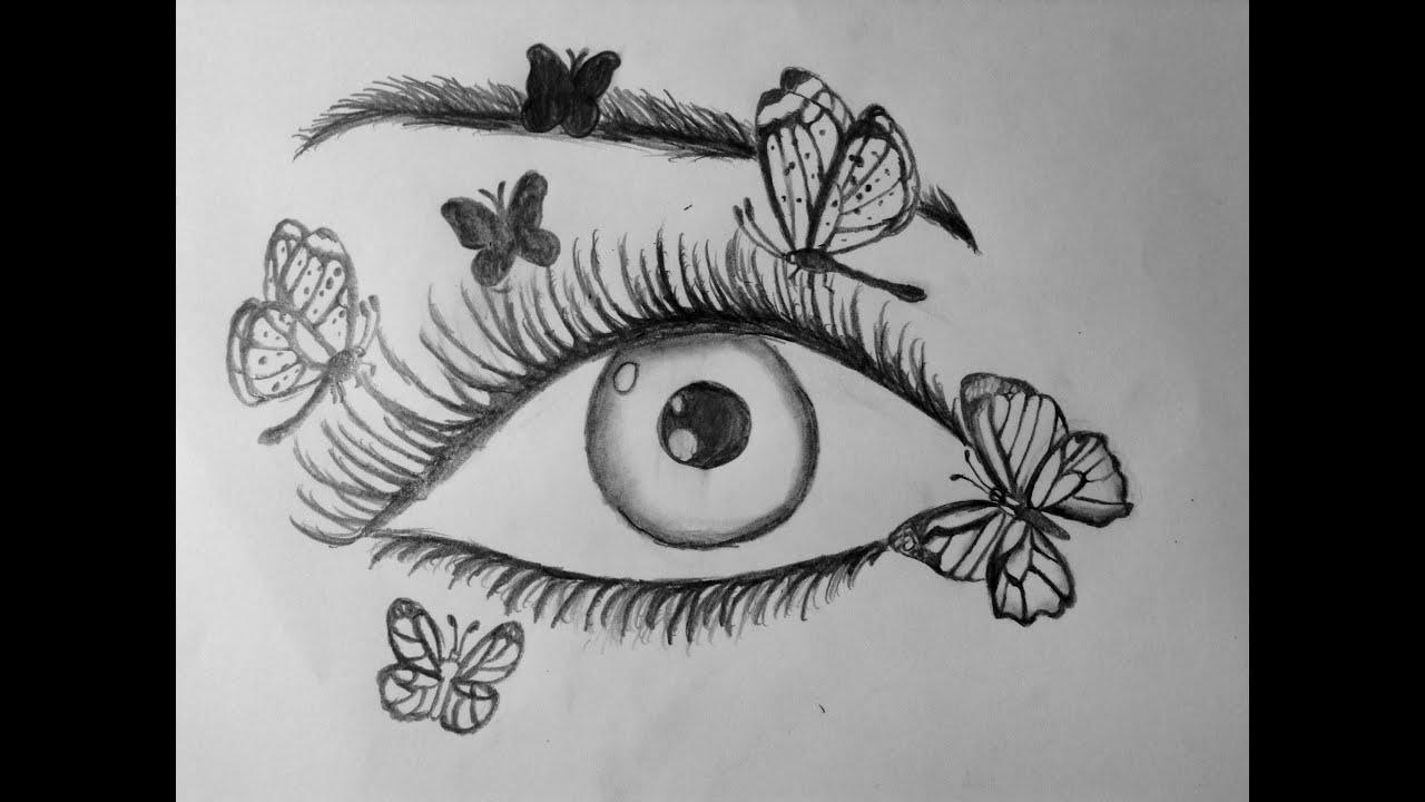 Comment dessiner un il avec des papillons youtube - Dessiner un papillon ...