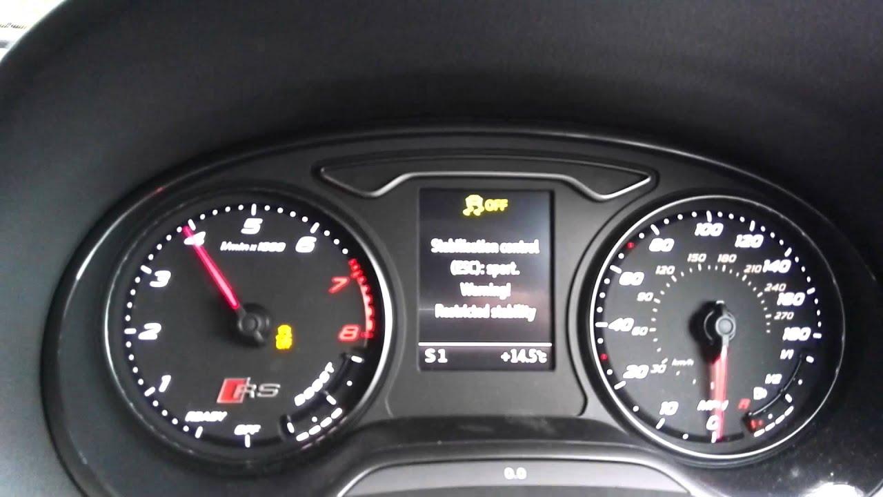 Audi RS3 Sportback 2015 launch control 0 60 mph 362 bhp