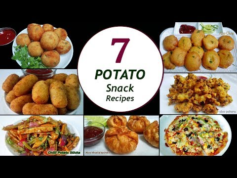 7 Potato Snack Recipes || 7 Days/Week Aloo Snacks || Simple & Easy Recipes