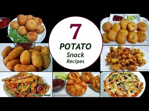 7 Potato Snack Recipes || 7 Days/Week Aloo Snacks || Simple & Easy Recipes