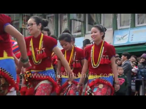 Dance parade by Himalayan communities - Rai, Limbu and Lepcha
