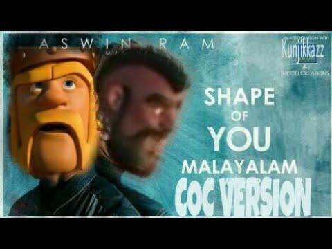 Edsheeran Shape Of You Malayalam Coc Version