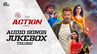 Action Telugu | Audio Songs Jukebox | Vishal, Tamannaah | Hiphop Tamizha | Sundar.C