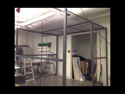 Wire Security Cage Installation by Storage & Handling Equipment ...