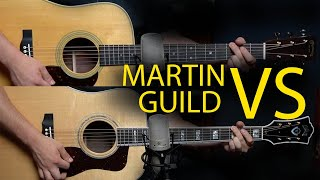 Martin D-28 vs Guild D-55 : Spruce/Rosewood Dread Icons 2019