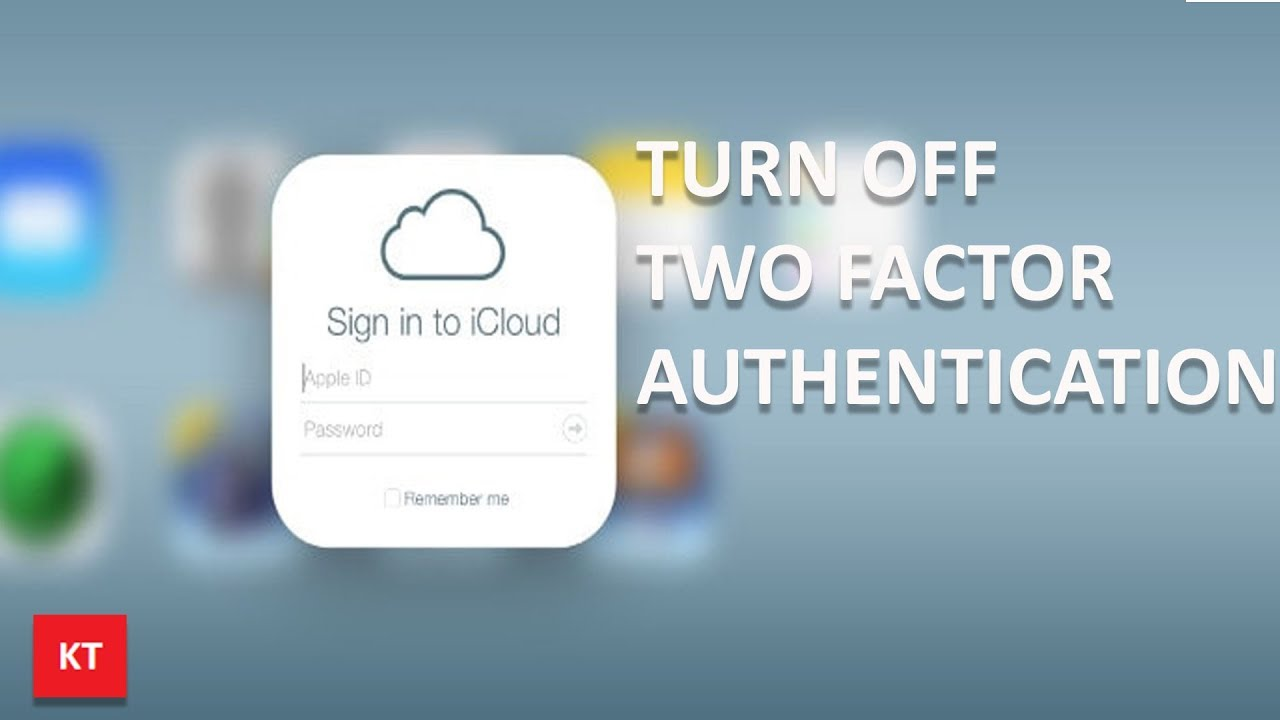 How to turn off two factor authentication on iPhone (for apple id)