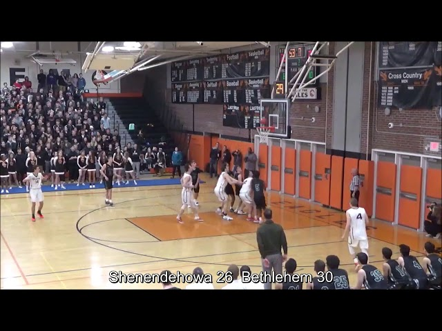 Game Highlights Boys' Varsity: Shenendehowa 45 vs Bethlehem 48 (F)