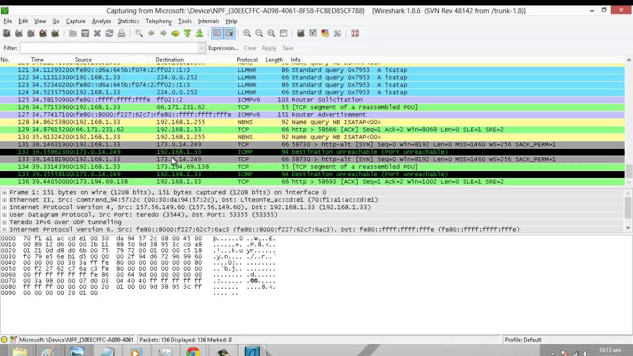 الحلقة728: كيف تفحص ترافيك الشبكة وتكشف عن البرامج الضارة ببساطة