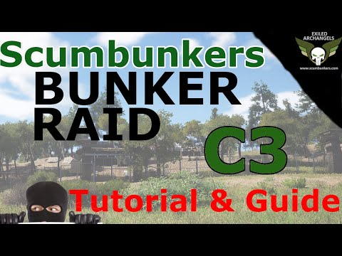 SCUM BUNKERS - C3 Military Bunker Raid Mech Entry and Exit Tutorial Guide